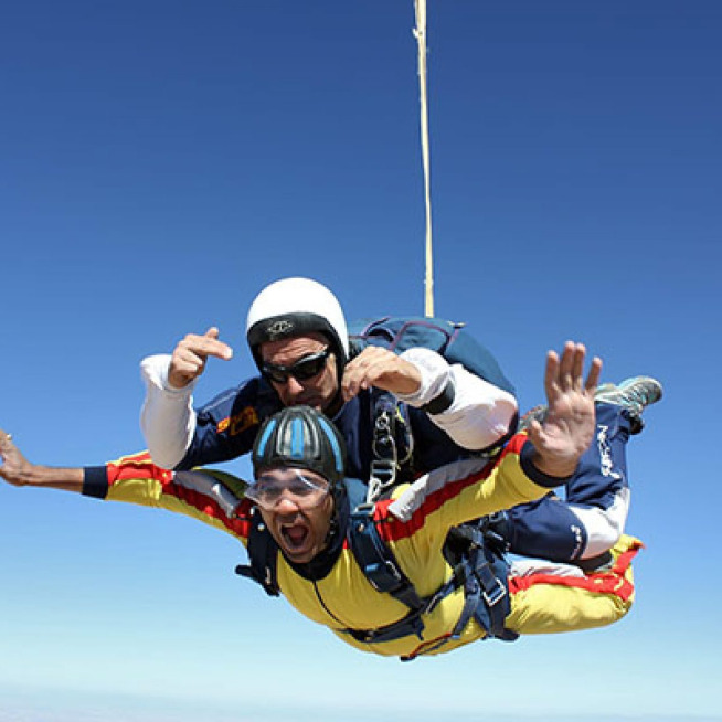 Jerome takes to the sky to raise more than £700 for Brimble Hill School
