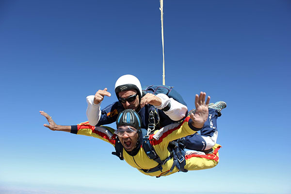 Jerome takes to the sky to raise money for Brimble Hill School
