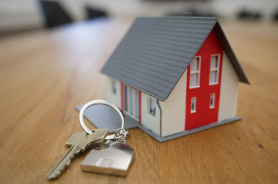model house and keys